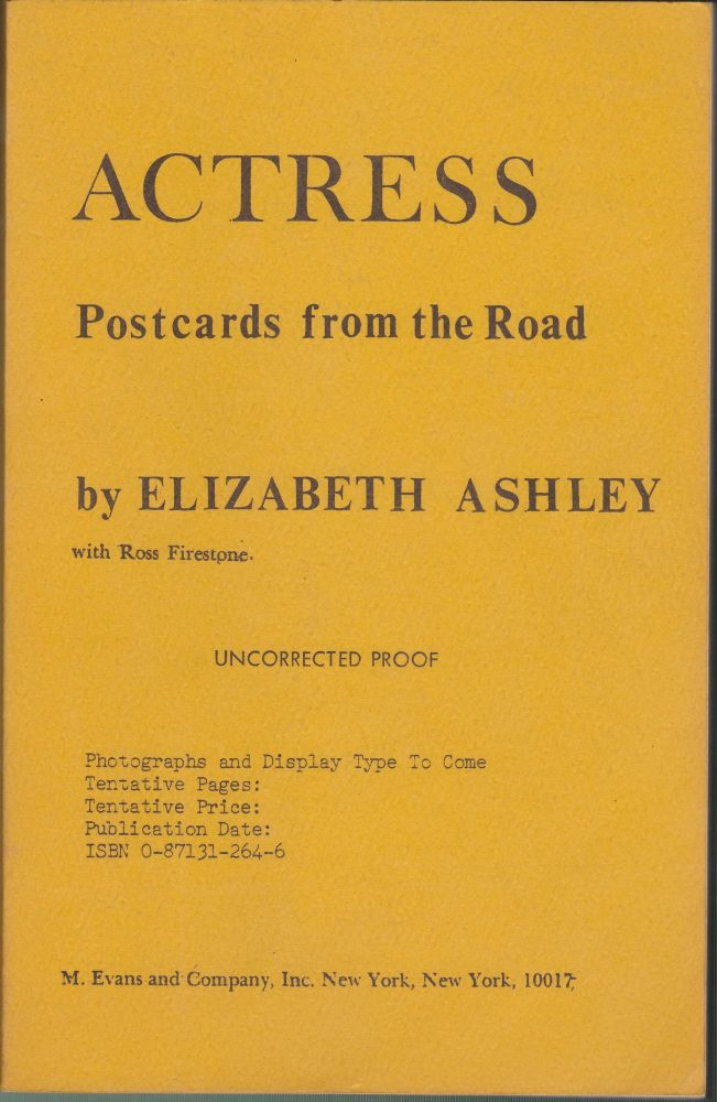 Actress, Postcards From The Road. Elizabeth Ashley.