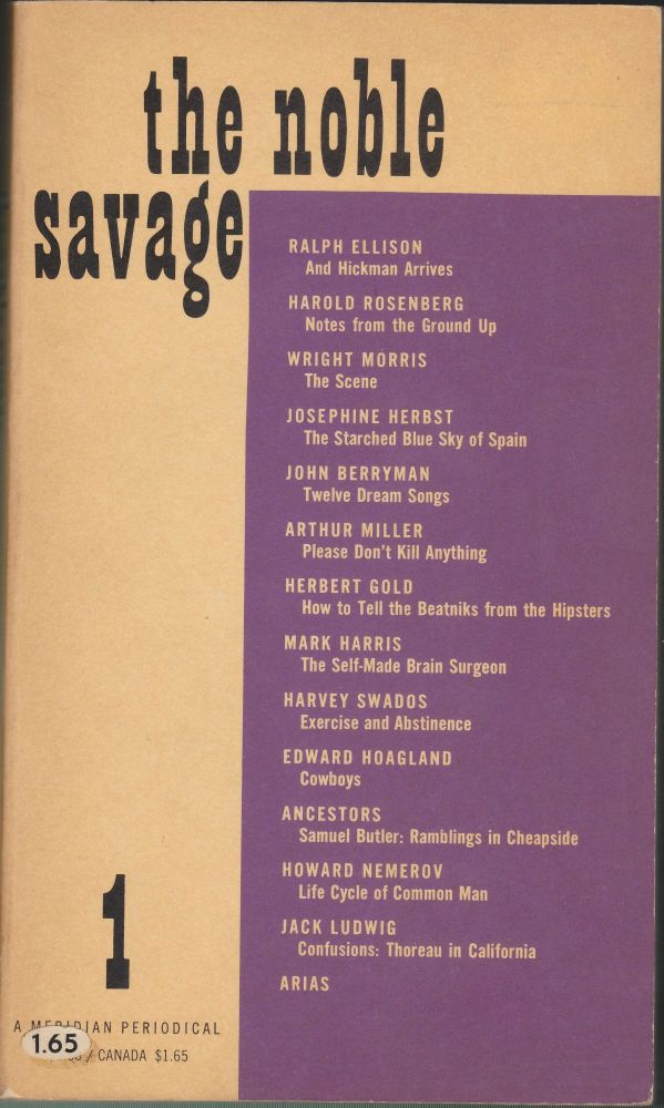 The Noble Savage 1. Saul Bellow.