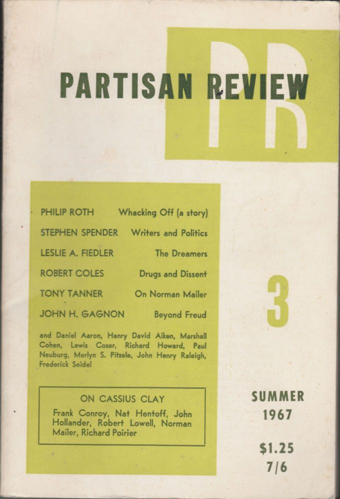 Partisan Review (Volume XXXIV, Number 3, Summer 1967). Philip Roth, Stephen Spender, Leslie A. Fiedler.