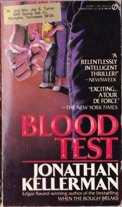 Blood Test. Jonathan Kellerman