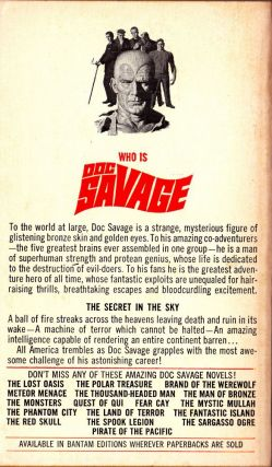 The Secret in the Sky, a Doc Savage Adventure (Doc Savage #20)