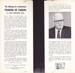 Pearson of Canada, the Making of a Statesman