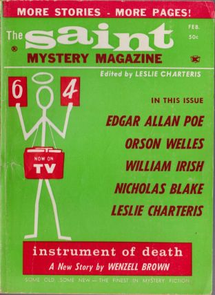 The Saint Mystery Magazine February 1964 (Volume 20, Number 2). Leslie Charteris, Orson Welles,...