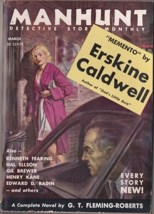 Manhunt March 1955 (Volume 3, Number 3). G. T. Fleming-Roberts, Hal Ellson, Jack Webb, Erskine...