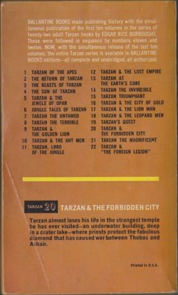 Tarzan and the Forbidden City (Tarzan 20)