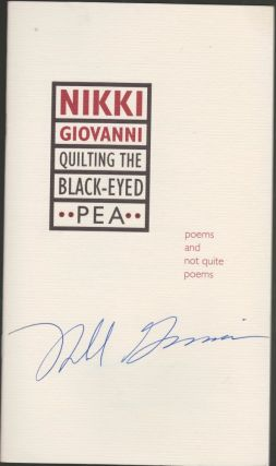 Quilting the Black-Eyed Pea: Poems and Not Quite Poems (includes signed promotional pamphlet)