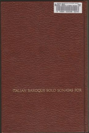 Italian Baroque Solo Sonatas for the Recorder and the Flute
