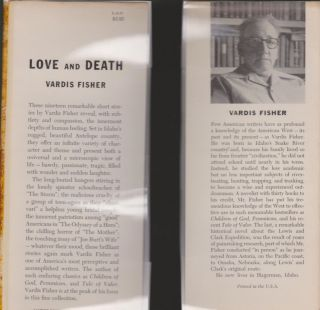 Love and Death, the Complete Stories of Vardis Fisher