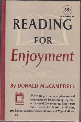 Reading For Enjoyment. Donald MacCampbell.