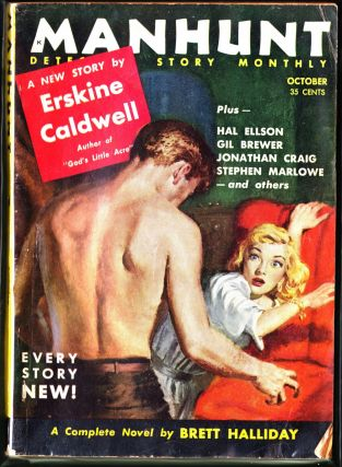 Manhunt October 1955 (Volume 3, Number 10). Brett Halliday, Erskine Caldwell