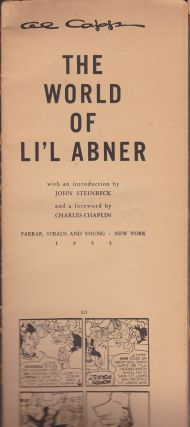 The World of Li'l Abner (full sheets). Al Capp
