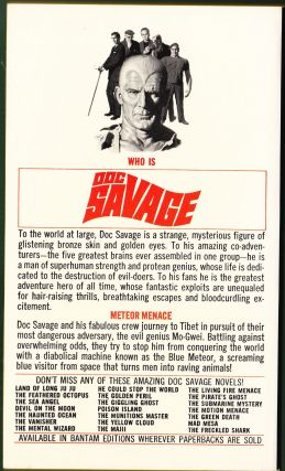 Meteor Menace, a Doc Savage Adventure (Doc Savage #3)