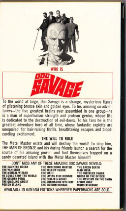 The Metal Master, a Doc Savage Adventure (Doc Savage #72)