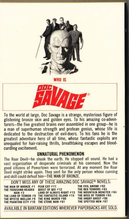 The Roar Devil, a Doc Savage Adventure (Doc Savage #88)