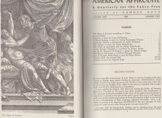 American Aphrodite Volume One, Number Two; A Quarterly For the Fancy-Free