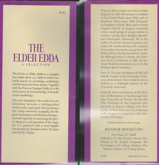 The Elder Edda, A Selection
