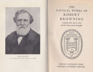 The Poetical Works Of Robert Browning; Complete from 1833 to 1868 and the shorter poems thereafter