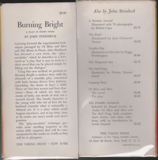 Burning Bright, A Play in Story Form