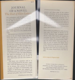 """Journal Of A Novel; The """"East Of Eden"""" Letters"""