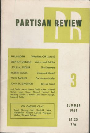 Partisan Review (Volume XXXIV, Number 3, Summer 1967). Philip Roth, Stephen Spender, Leslie A....