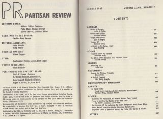 Partisan Review (Volume XXXIV, Number 3, Summer 1967)