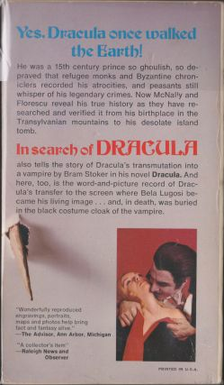 In Search Of Dracula; A True History Of Dracula And Vampire Legends
