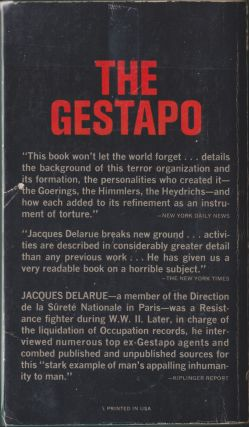 The Gestapo, A History Of Horror