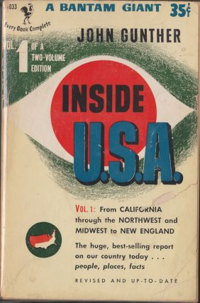 Inside U.S.A, Volume 1. John Gunther