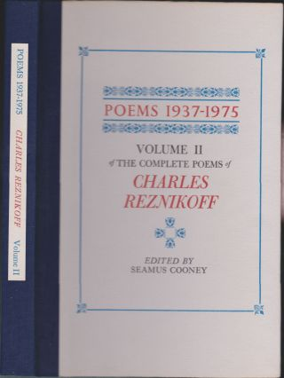 Poems 1937-1975, Volume 2 Of The Complete Poems Of Charles Reznikoff. Charles Reznikoff, Seamus...