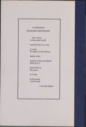Poems 1937-1975, Volume 2 Of The Complete Poems Of Charles Reznikoff