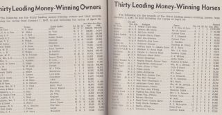Daily Racing Form Chart Book April, 1947 Vol. LII. No. 4